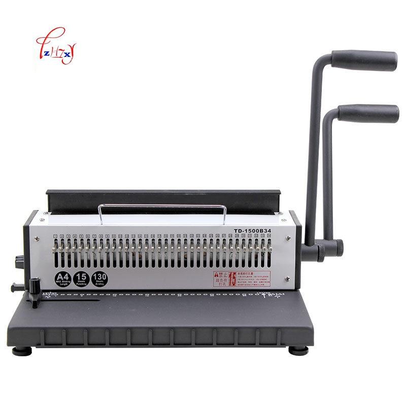34 חורי מתכת ספירלת חוט Spool חוט מכונת כריכה ידנית מכונת קשירה קלסר A4 מכונה אגרופן 1 pc