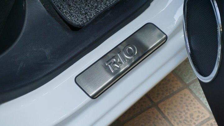 AOSRRUN Нержавеющая сталь Накладка на порог автомобиля аксессуары для KIA RIO седан хэтчбек GT 2006- 3GEN 4GEN