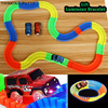 160/180/220 PCS Flexible Track Hot Wheels Glowing Road Kids Toys Truck Miracle Race Luminous Track For Car Flash in The Dark