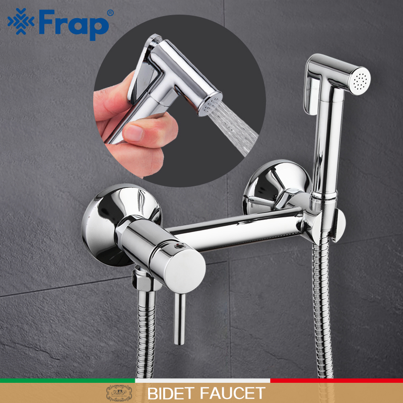 Frap wall mount Bidet Faucets Brass Bathroom shower tap bidet toilet sprayer washer tap mixers muslim