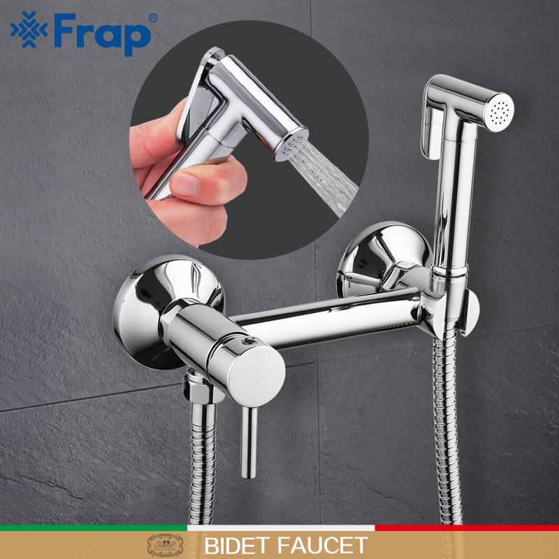 Home Improvement Bidets & Bidet Parts Frap Bidets Brass Bathroom Shower Tap Bidet Toilet Sprayer Bidet Washer Mixer Muslim Shower Ducha Higienica Toilet Faucet Be Friendly In Use