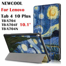 Case For Lenovo Tab 4 10 plus tablet Case , smart Cover for Lenovo TAB4 10 Plus TB-X704 TB-X704F TB-X7 Flip Cover tablet Case