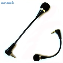 Ouhaobin New Mini 3.5mm Jack Flexible Microphone Mic For PC Laptop Notebook Skype Yahoo Black Portable Microphone Set7