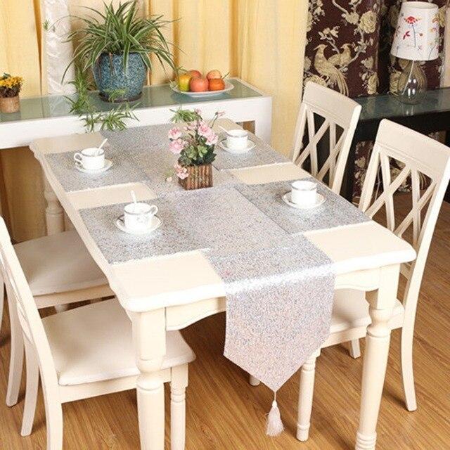 Mode Table De Paillettes Coureur Scintillant Bling Mariage Decoration Glitter Gland Banquet Chemins