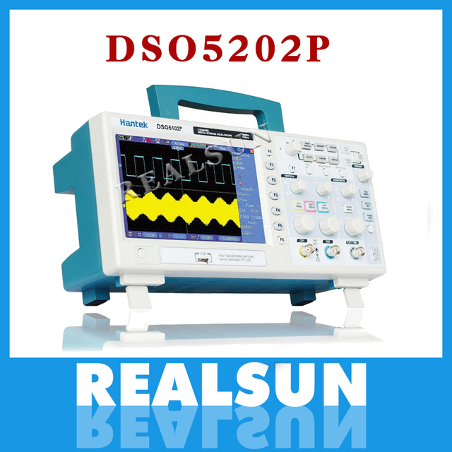 Oscilloscope numérique Hantek DSO5202P Oscilloscope Portable 200MHz bande passante 2 canaux de poche LCD USB Oscilloscopes Multimetro