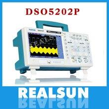 Osciloscópio digital osciloscópio dso5202p osciloscópio portátil 200 mhz largura de banda 2 canais handheld lcd usb osciloscópios multimetro