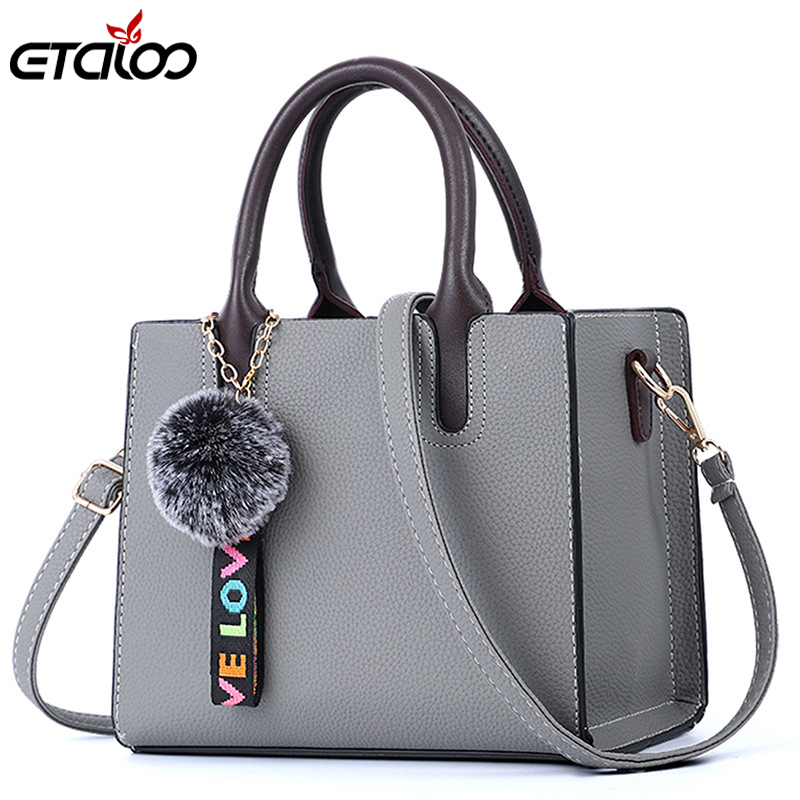 Female bag 2018 Korean version of the new trendy fashion PU hand bag pu Messenger bag ...