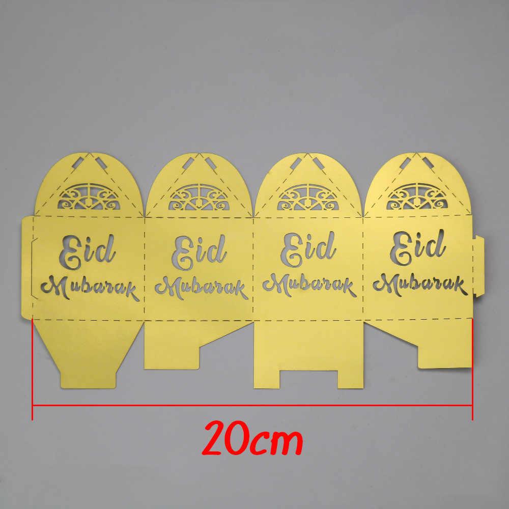 Bộ 50 Vàng Bạc EID Mubarak Giấy Kẹo Tặng Hộp Đóng Gói Tháng Ramadan và EID Đồ Trang Trí Đảng Hồi Giáo TỰ LÀM Ramadan Mubarak trang trí