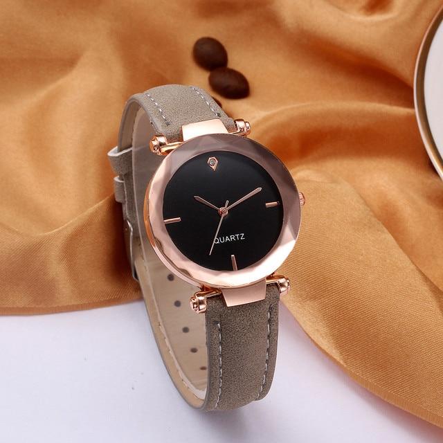 montre femme 2018 Top Brand Women Bracelet Watch Contracted Leather WristWatches Women Dress Ladies Quartz Cloc kreloj mujer