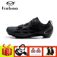 Tiebao sapatos de bicicleta de estrada sapata pedales bicicleta auto-bloqueio atlético sapatos de ciclismo respirável superstar tênis
