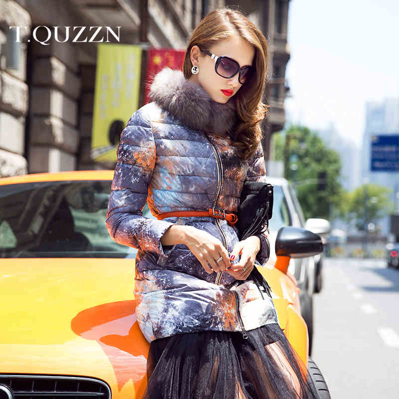 2015 New Hot Winter Thicken Warm Woman Down jacket Coat Parkas Hooded Raccoon Fur collar Slim Long Plus Size 2XXL Luxury High