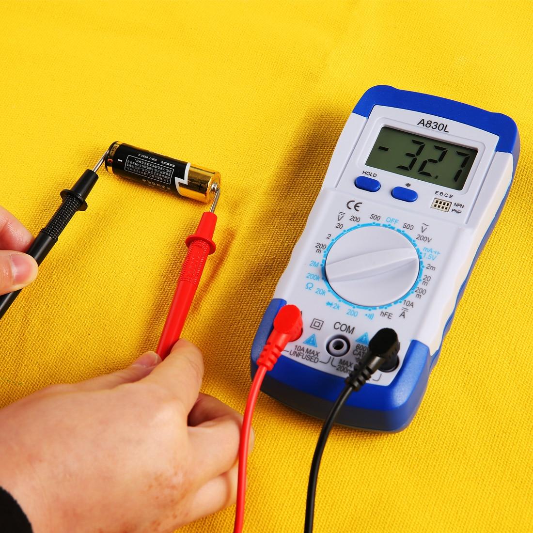 Multímetro de prueba de voltios multímetro de corriente eléctrica LCD AC DC voltímetro ohmmetro prueba accesorios prácticos multímetro Digital
