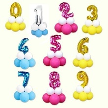 16inch Number Balloon Pink Blue Gold Silve Animal Foil Balloons Baby Happy Birthday Party Wedding Decoration Air