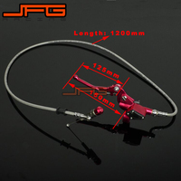Hydraulic Clutch Lever Master Cylinder 1200mm Offroad Motorcycle Dirt bike Pit Bike ATV 125cc 250cc RMZ Vertical Engine gold