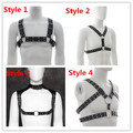 Sexy PU Leather Man Chest Belts 4 Style For Choose Male Chest Restraint Harness Fetish Bondage Straps Belts Sex Products For Men