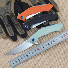 New Tactical Folding Knife D2 Blade G10 Handle Blue Moon Outdoor Survival Camp hunt utility Knife Pocket Knives EDC hand Tools