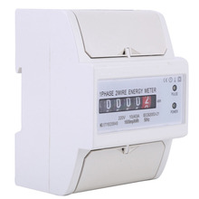 цена на 220V 1-Phase 2-Wire DIN Rail Electronic Energy KWh Meter 50Hz 10(40)A