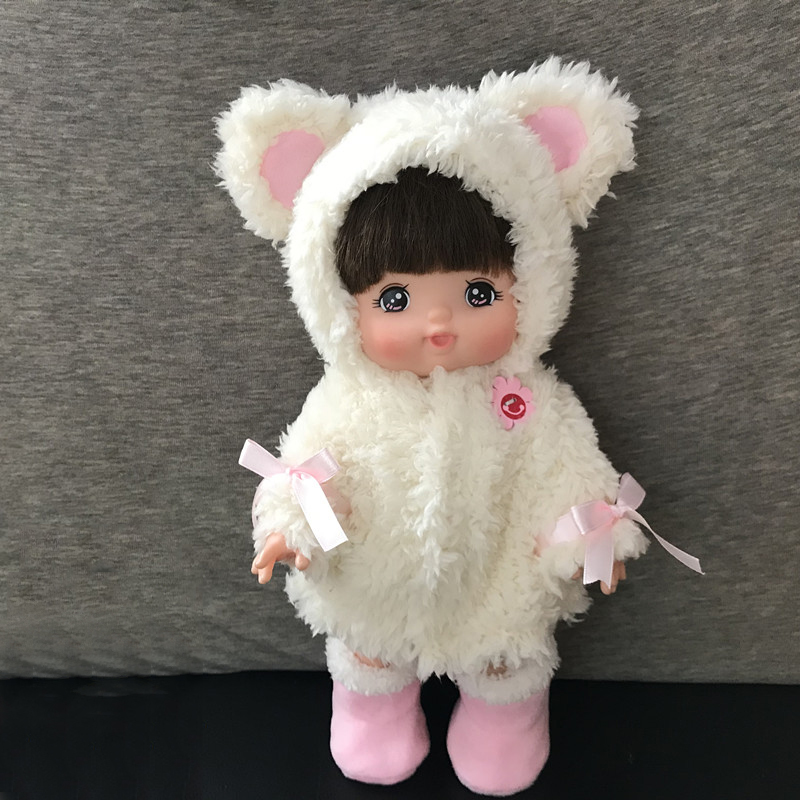 Winter handmade Doll bear ear-shaped pink white Plush Coat Clothes Shoes Accessories Baby Born Birthday Gift