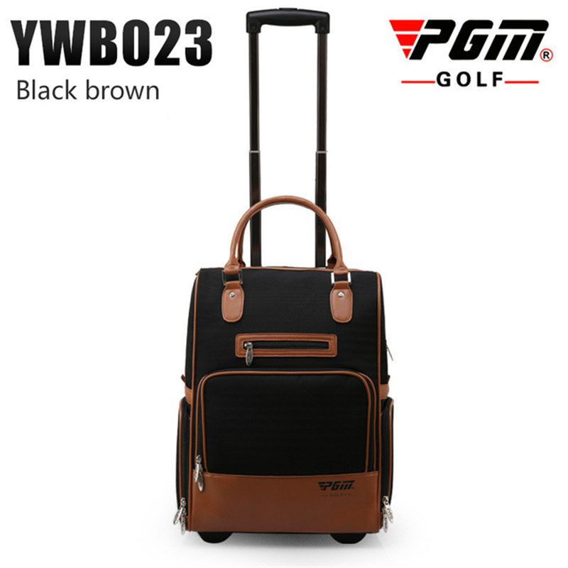 купить Pgm PU Golf Clothes Bag Durable Traveling Bag With Wheel Carry Bag For Men Women Large Capacity Golf Clothes Luggage D0078 по цене 5078.05 рублей