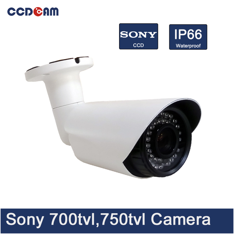 CCDCAM Sony CCD 700 /750tvl IR Bullet Camera CCTV Waterproof in China bullet camera tube camera headset holder with varied size in diameter