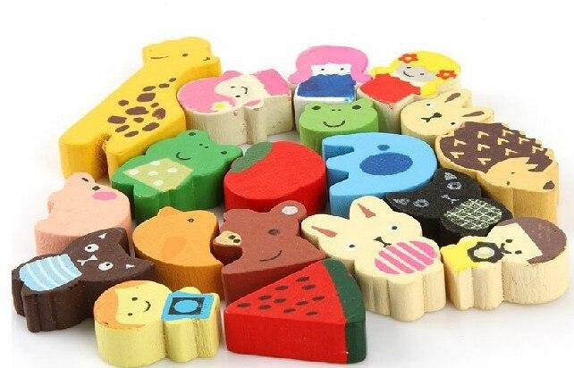 Wholesale 19pcslot Babyinfant Toddlers Toys Cartoon Animal Fridge
