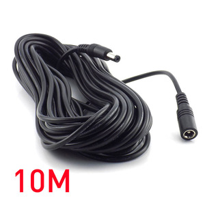 Hot Sale 1m 2m 3m 5M 10M DC connector Power Plug with extension wire 5.5 X 2.1 mm DC female & Male Jack adapter