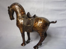Rare Qing Dynasty Bronze Horse Statue/ Sculpture Free shipping