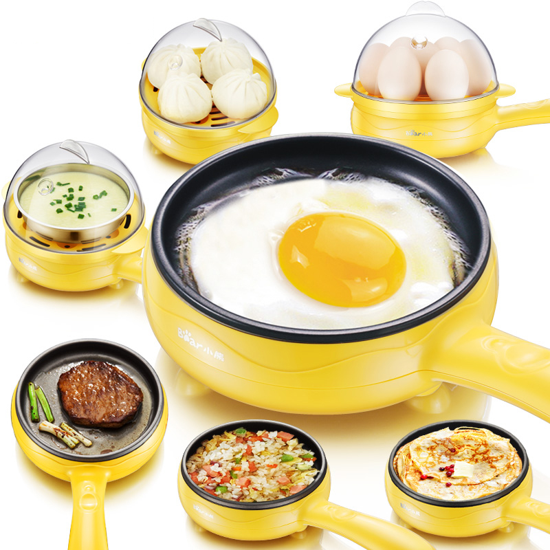 Electric Fried Eggs Tool Egg Boilers Cooker Electronic Fried Egg Mini Multi Functional Pan Breakfast Artifact Fried Eggs Machine 220v 600w 1 2l portable multi cooker mini electric hot pot stainless steel inner electric cooker with steam lattice for students