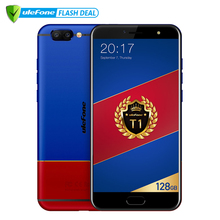 "Ulefone T1 Premium Edition Мобильный телефон 5.5 ""FHD helio P25 Octa core Android 7.0  6 ГБ +128 ГБ  Двойная камера 16MP+5MP сканер отпечатков пальцев 4G смартфон"