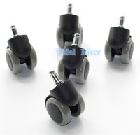 5PCS Dentist Chair Rubber Replacement Swivel Wheel Office Chair Caster