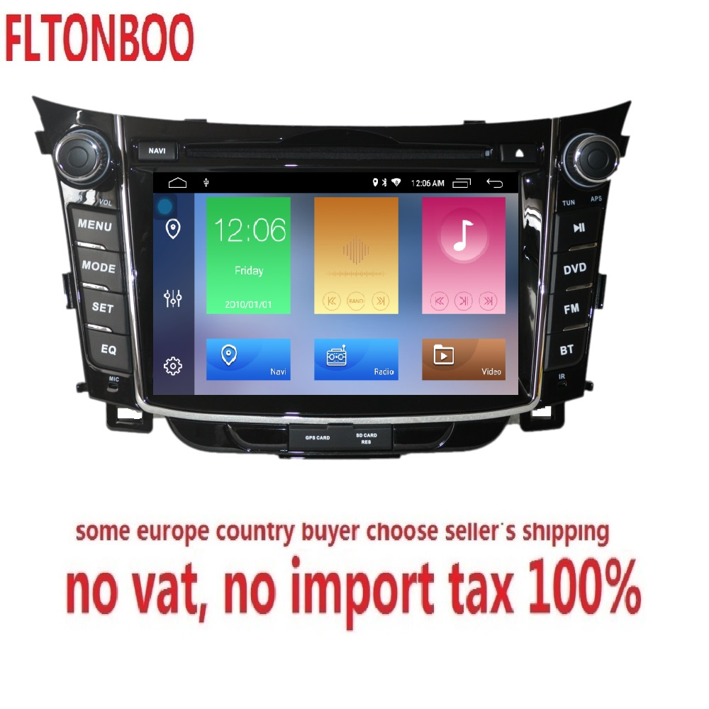 2 din 7 Android 8 1 for HYUNDAI I30 2013 car dvd gps navigation 3G Wifi