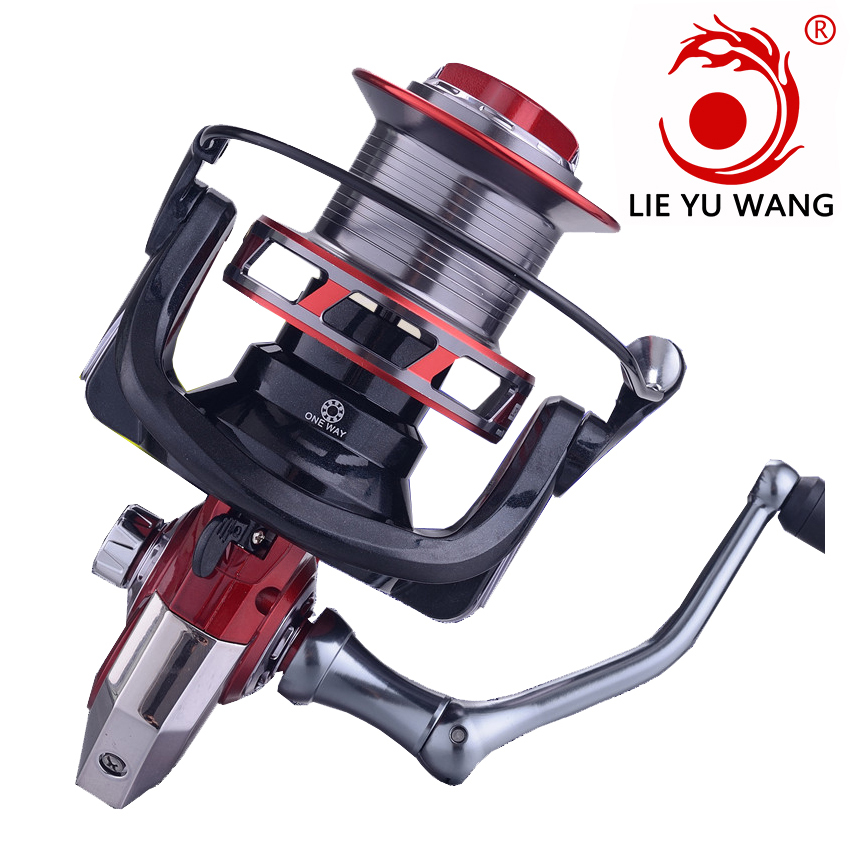 LIEYUWANG Spool-Spinning-Reel-Rod-Combo Fishing-Reel Reel--Rod CNC Metal Rocker AST High-Quality