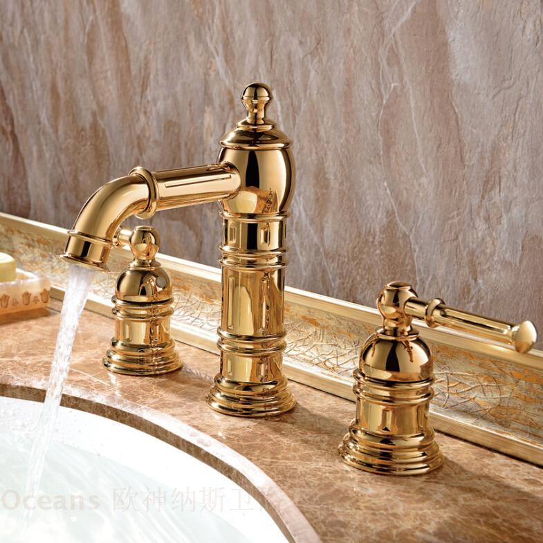 Rubinetto rubinetto acqua calda e fredda Rubinetto rubinetteria rubinetto europeo antico in oro e rame