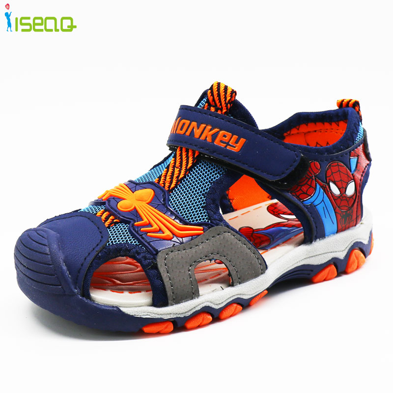 Summer Boys Sandals,Children Beach Shoes,Kids Spiderman Shoes For Boy,Casual Flat Shoes,fashion Cut-outs Child Sandal BS171