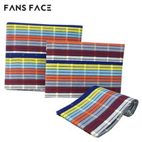 FANS FACE African Engagement Wedding Stripe Gele Headtie Nigeria Headtie For Women Clothing Fabric High Quality