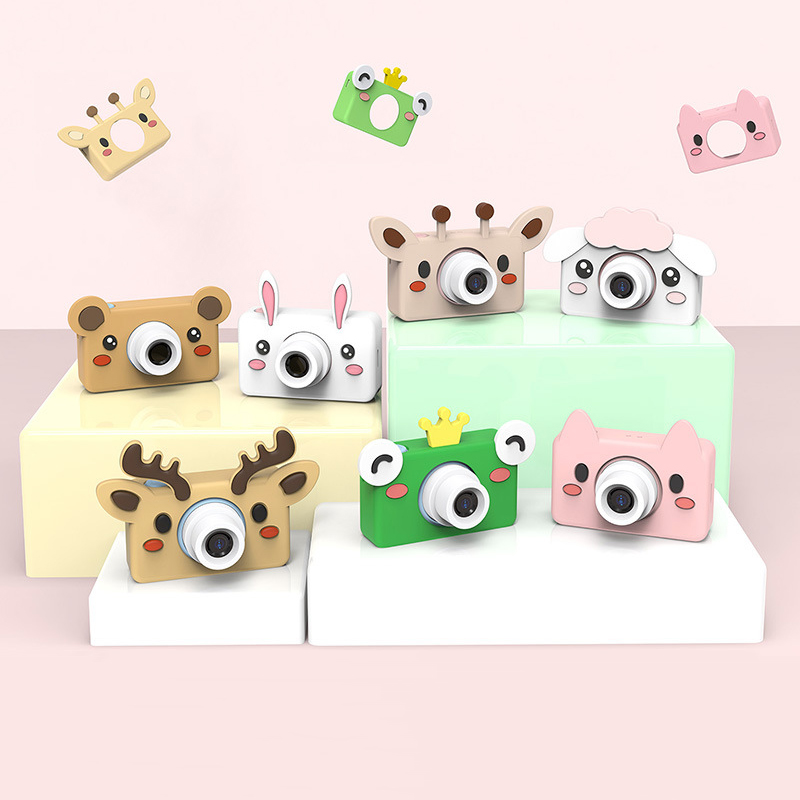 16.0MP HD Kids Camara Digital Fotografica Portable Camcorder With 2.0 LCD Screen With Cartoon Stickers Childrens Cirthday Gift
