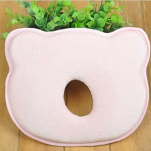 ФОТО Infant Headrest Prevent Flat Round Memory Foam Baby Pillow Lovely born Toddler Safe Anti Roll Baby Infant Pillow Sleep Head