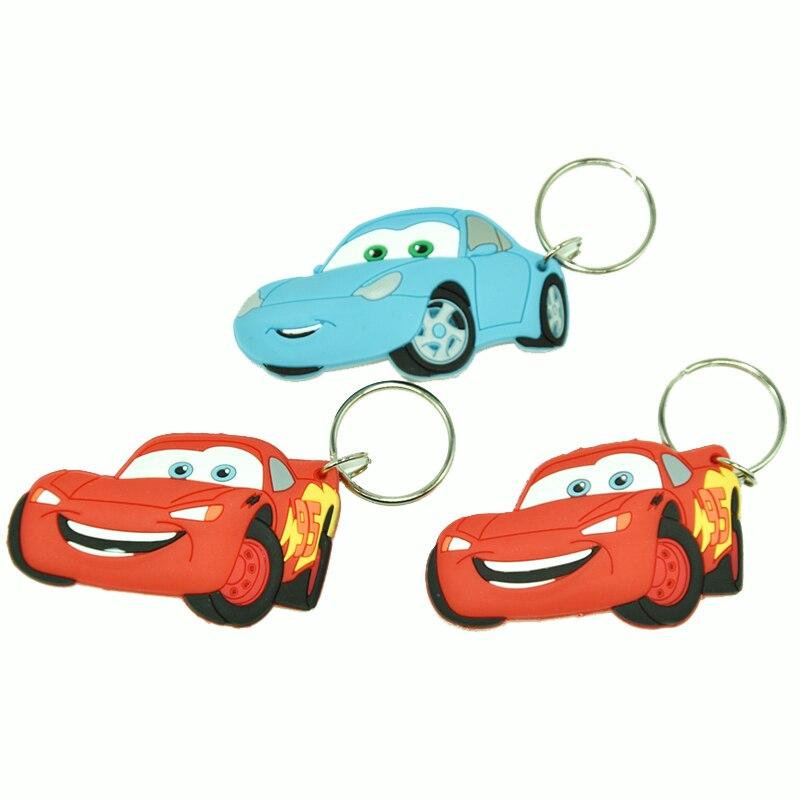 Disney Pixar Car 3 Lightning McQueen Porsche Rubber Keychain Car Toy
