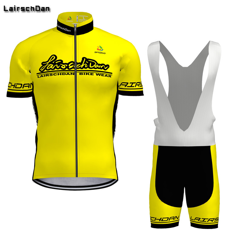 e7cb31818 LairschDan Brand Summer Cycling Jersey Set Breathable MTB Bicycle Clothing  Mountain Bike Wear Clothes Maillot yellow
