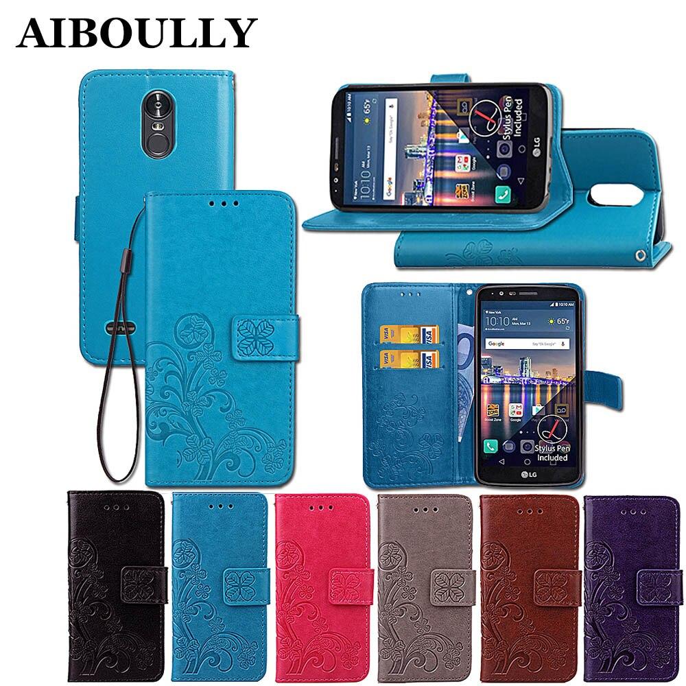 3D кожа держатель для карт Магнитный стенд флип Клевер кошелек охватывает ForLG Stylo 3 <font><b>K10</b></font> Pro LS777 M400DK PH3 16 ГБ 5,7 дюймов телефон случаях