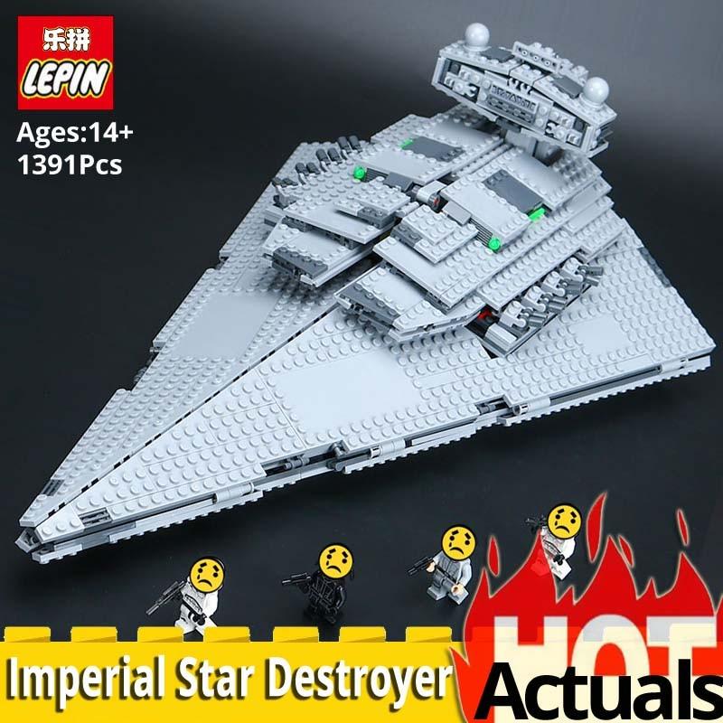 цена LEPIN Starwars Series 05062 Imperial Star Destroyer Set Building Blocks Bricks LegoINGlys 75055 Model Toys for Children Birthday