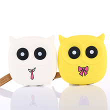 New Cute Owl Cartoon Mobile Power Bank Charger External Battery 5000mAh Dual USB for Smartphone For Samsung Drop Shipping 5000mah external mobile battery power charger page 4 page 4