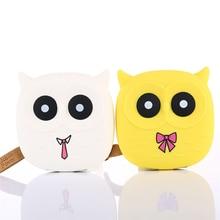 купить New Cute Owl Cartoon Mobile Power Bank Charger External Battery 5000mAh Dual USB for Smartphone For Samsung Drop Shipping по цене 619.4 рублей