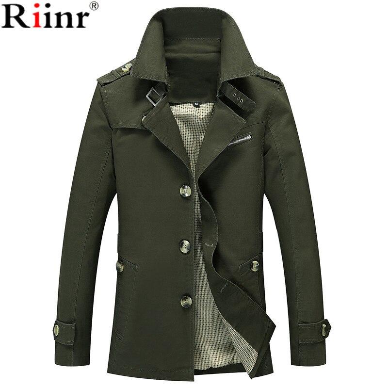 Riinr Män Jacka Coat Lång Sektion Mode Trench Coat Jaqueta Man - Herrkläder - Foto 2