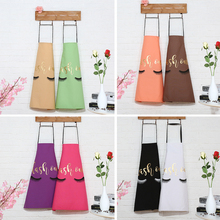 Cute Gilding Eyelash Pattern apron housework cleaning Cooking apron Anti Dust Kitchen BBQ picnic Cotton Apron Dropshipping grid pattern cute polyester kitchen apron red brown multicolored