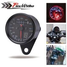 Универсальный мотоцикл кафе гонщик Спидометр Одометр датчик 0-160 км/у инструмент с Светодиодный индикатор
