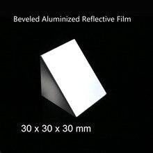 Optical Glass Triangular Prism Lsosceles K9 Tri Prism With Beveled Reflecting Film Optics 30 x 30 x 30 mm недорого
