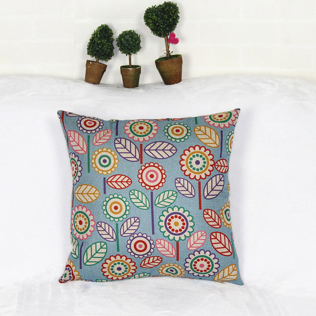 HD print dining chair cushion 45x45cm car seat cushions Home decorative pillow pillowcase Color flower Simple & HD print dining chair cushion 45x45cm car seat cushions Home ...