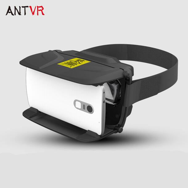 Free Shipping Antvr Head Mount Virtual Reality VR 3D Video Glasses Goggles for iPhone Samsung Smart Phone 4.5 5.0 5.5 6.0 inch