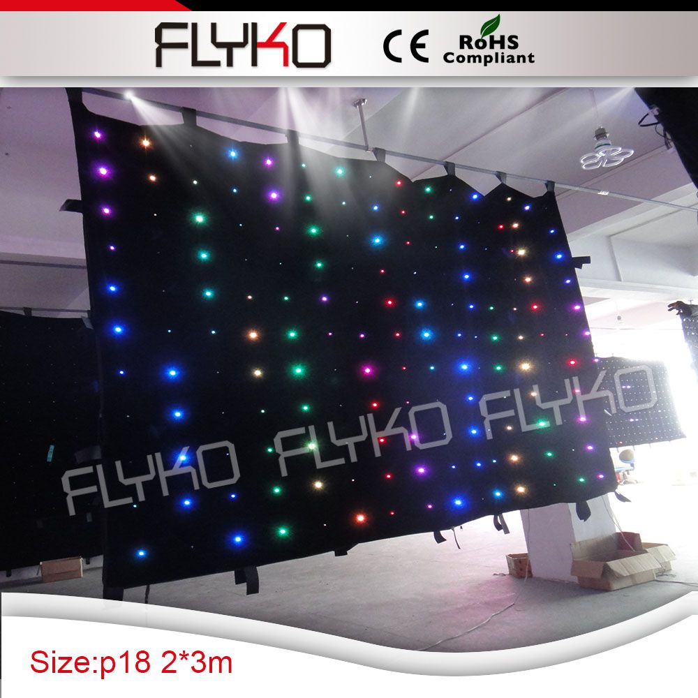 curtain led lights 7ft x 10ft P180mm new stage light party decoration led stage video curtain screen